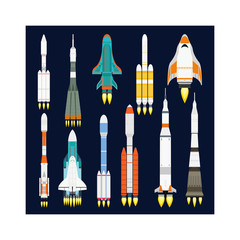 Rocket vector icon isolated