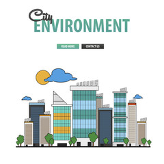 City environment background for business