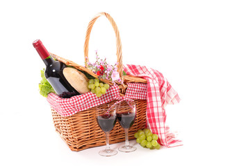 Fotorolgordijn Picknick picnic basket