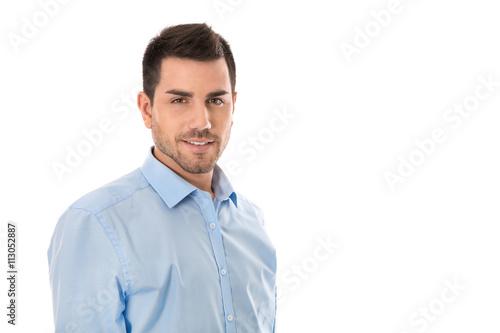 promo code 2e906 2bbc4 Portrait junger Geschäftsmann. Isolierter Business Mann in ...