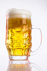 Beer mug, beer in the glass