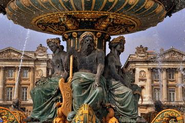 Paris - Brunnen der Meere auf dem Place de la Concorde