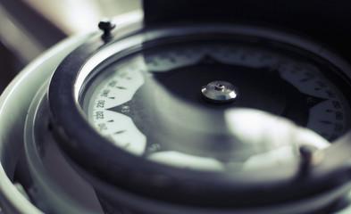 Close-up of compass