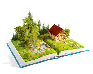 Cute countryside log house