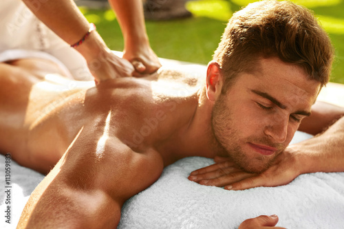Sexy men massage