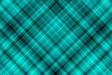 Illustration with cyan and black checkered diagonal lines