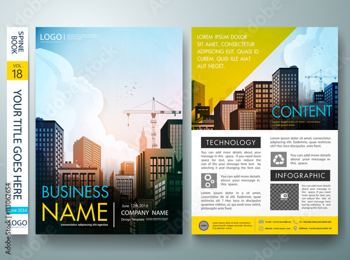 City design on brochure backgrounders design template vector city design on brochure backgrounders design template vector magazine brochure report poster flashek Image collections