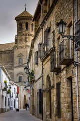 Baeza, Andalusia, Spain - March 21, 2008: Plaza del Populo and touristic office
