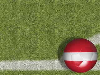 Austria Ball in a Soccer Field