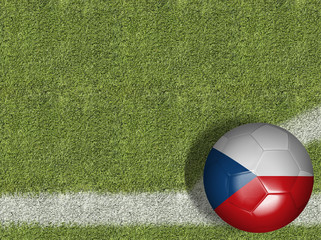 Czech Republic Ball in a Soccer Field