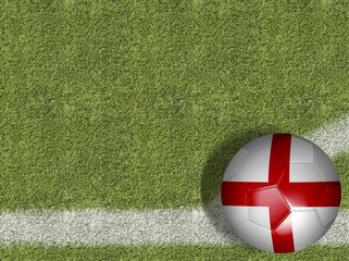 England Ball in a Soccer Field