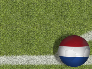 Netherlands Ball in a Soccer Field