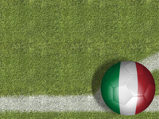 Italy Ball in a Soccer Field