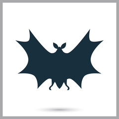 Bat icon on the background