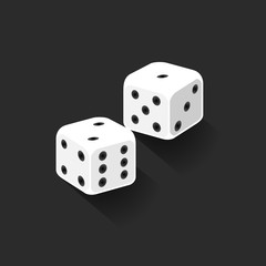Vector. Graphic pair of dices. Isolated illustration.