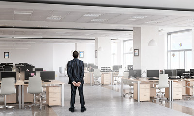 Businessman in office interior
