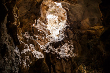Khao Luang Cave, one of the attractions of Thailand is beautiful