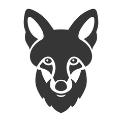 Fox Head Ligi Icon on White Background. Vector