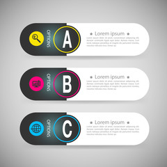 Design infographics number banners template. graphic or website