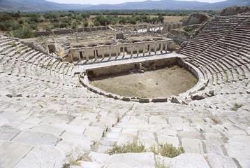 The Roman theatre, archaeological site, Aphrodisias, Anatolia, Turkey, Asia Minor, Asia