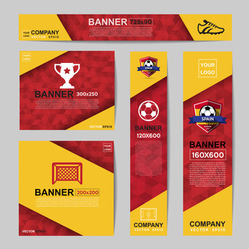 Banner for Website Ads.Ratio,728x90,300x250,200x200,120x600,160x