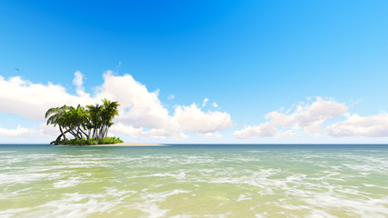 Untouched tropical sand beach