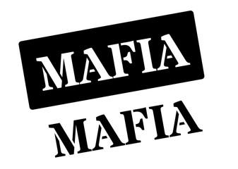 Mafia black rubber stamp on white