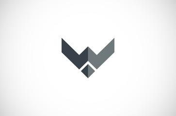letter W wolf logo