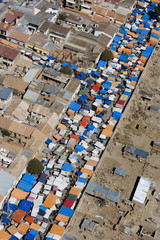Aerial view of market, Potosi, Bolivia, South America