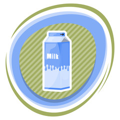 Milk pack colorful icon