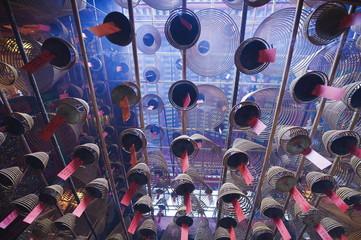 Incense coils, Man Mo Temple, Hong Kong Island, Hong Kong Special Administrative Region (SAR), China, Asia