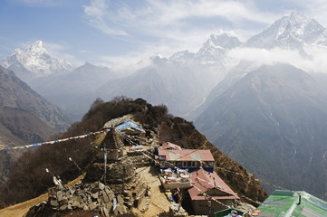 View of Ama Dablam, 6812m, Solu Khumbu Everest Region, Sagarmatha National Park, Himalayas, Nepal, Asia