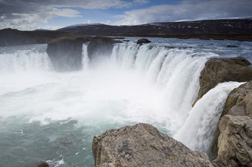 Godafoss waterfalls, Iceland, Polar Regions