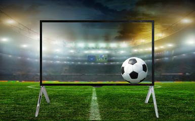 Smart tv led monitor isolated on white background