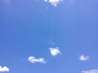 sunny summer sky with cloud