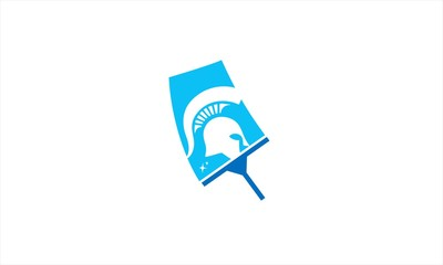 cleaning spartan logo
