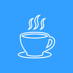Coffee cup - vector icon.