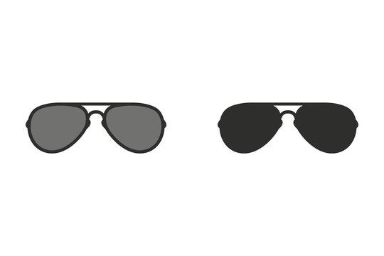 Sunglasses - vector icon.