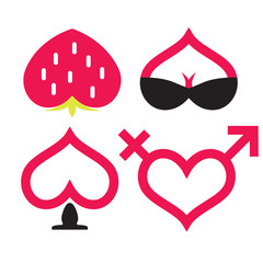 Love and sex icon collection