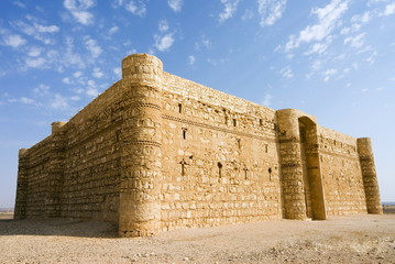 Qasr al Kharaneh desert fort,  Amra, Jordan, Middle East