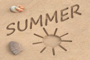 summer vacation, 3D rendering