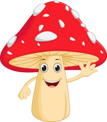 happy mushroom cartoon
