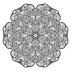 Mandala. Ethnic decorative element. Hand drawn backdrop.