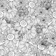 Coloring book page design with pattern.