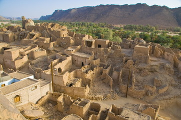 The old ruined town (ksour) of Djanet, Southern Algeria, North Africa, Africa