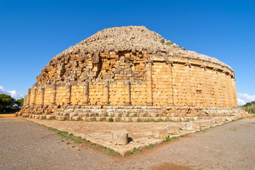 The tomb of the Christian, old Christian pyramid, Tipasa, UNESCO World Heritage Site, Algeria, North Africa, Africa