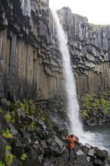 Svartifoss waterfall, Skaftafell National Park, Iceland, Polar Regions