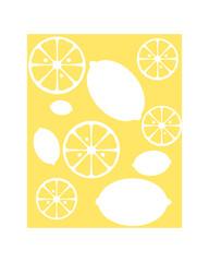 Vector print for t-shirt. Lemon on a white background