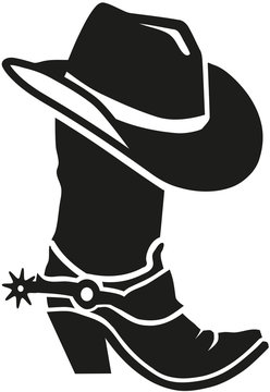 Cowboy boot with hat