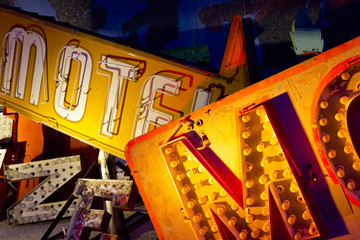 Discarded Las Vegas Motel Sign and Neon Letters I